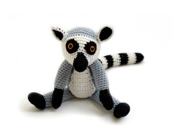 Crochet pattern Ring-tailed Lemur - amigurumi - instant download pdf