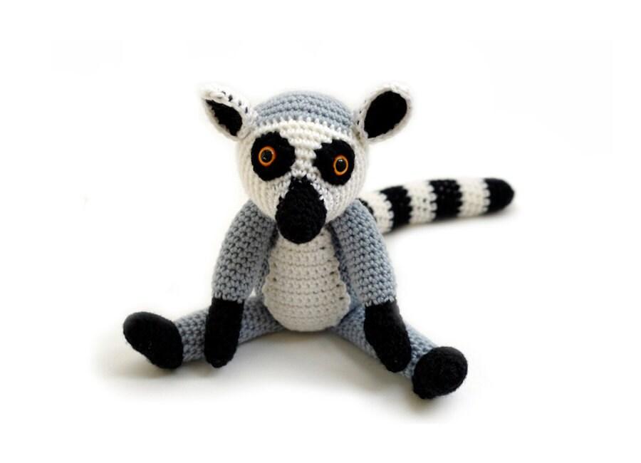 Crochet pattern Ring-tailed Lemur amigurumi instant