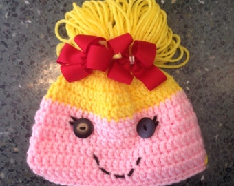 Lalaloopsy Hat - Crochet Lalaloopsy character - Spot Splatter Splash Hat - Lalaloopsy Tobogan - Baby Lalaloopsy hat - Newborn Lalaloopsy