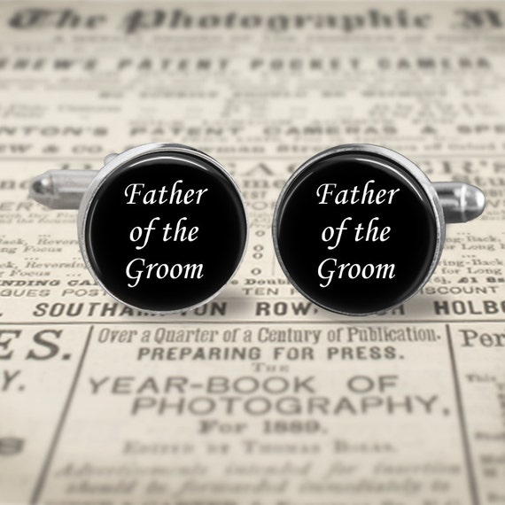 Wedding Gift Ideas Father Of The Groom : Father of the Groom Cufflinks, Wedding Cufflinks, gift for Dad ...