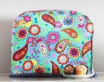 Kitchenaid, Davo or K-Mix mixer cover, Kitchen decor , Housewarming gift,  Turquoise paisley designer fabric