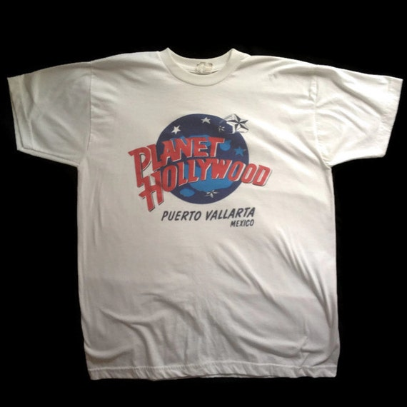 90 39 s planet hollywood t shirt 1990 39 s puerto for Planet hollywood t shirt