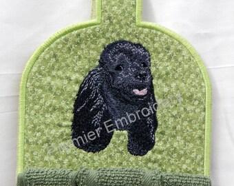 Poodle, Black, Kitchen Towel Topper