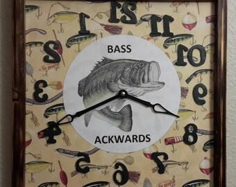 Bass Ackwards clock