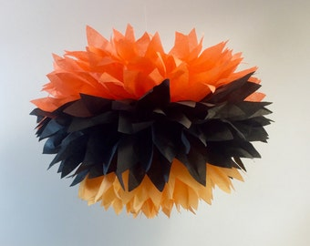 halloween party poms pompoms first birthday baby shower hanging poms - Halloween Pom Poms