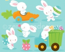 Busy Easter Bunny Clipart