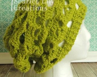 Skull Slouch Hat - Crochet