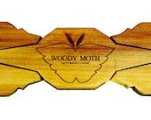 Cedar Moth Wood Bow Tie