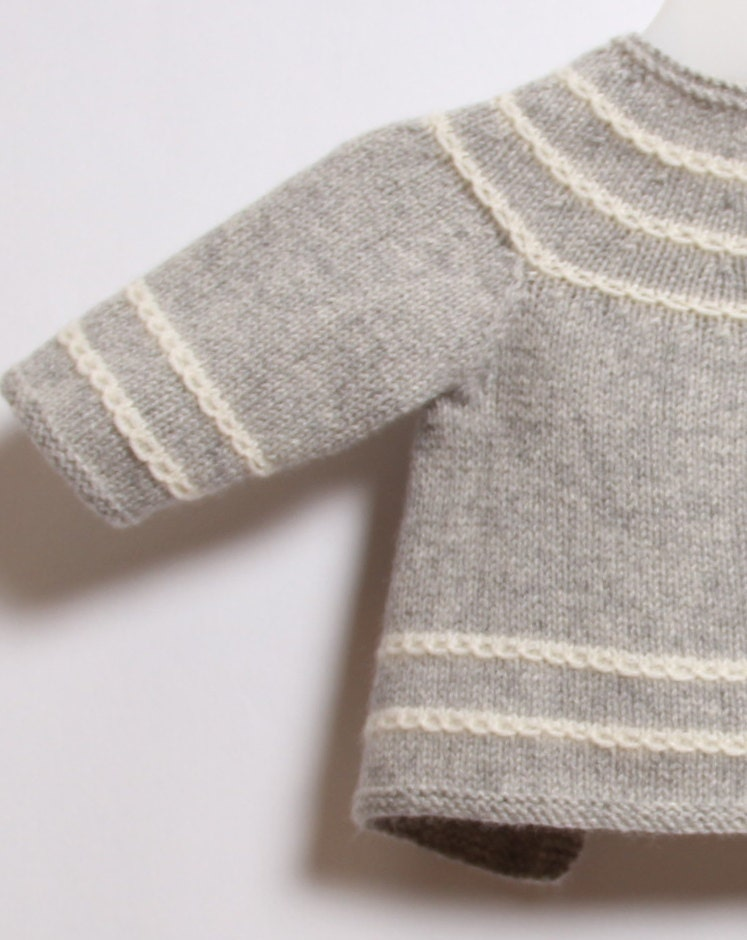 Baby Knitting Patterns With Instructions : Baby Cardigan / Knitting Pattern Instructions in English ...