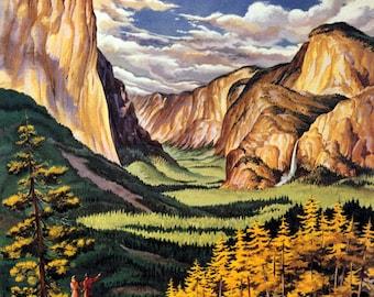 "Yosemite Valley - US National parks,  - Travel, Parks, and Landscapes, mountainscapes,  11x14 Canvas Prints. tourismair travel. 11x14"" print"