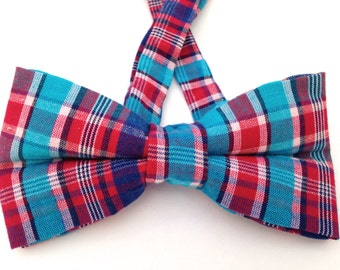 Gingham bow tie, multicolor bow tie, red gingham bow tie, gingham bow ties, blue gingham bow tie, red bow tie,navy gingham bow tie,