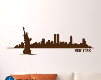 New York wall art, New York wall decal, New York decal, New York decor, New York skyline, New York skyline decal, D00201.