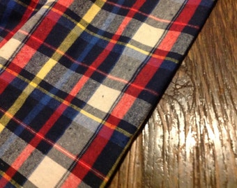 Tartan Style Check Blanket Fabric - Brushed Cotton - per Metre - CLEARANCE