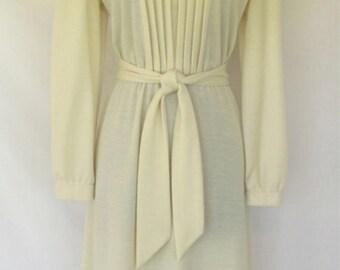 Kenneth Too! Cream 1960's Mod Dress
