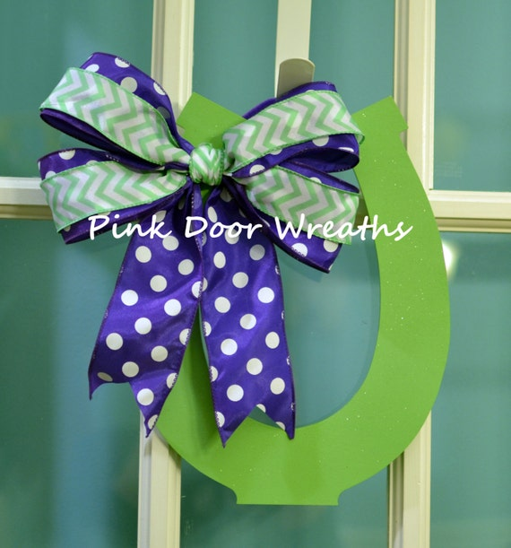 To Order Door Hanger Kentucky DERBY HORSEHOE 2015 Official Colors