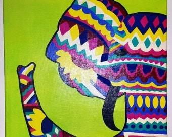 Tribal Elephant Canvas