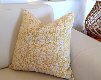 Cushion.Covers, Yellow Linen, Ivory Linen, Floral Spray Cushions, Pillows Floral Pillows Scatter Cushion Linen Decorative Pillows