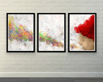 Blow The Colors (MultiColorArt Design) A3 High Quality Posters
