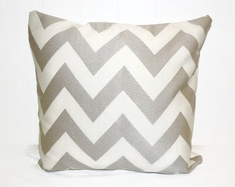 Home Decor Decorative BHG Tan and Cream Chevron Zig Zag Print - Throw Pillow