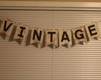 Vintage Photo Prop Banner - SALE