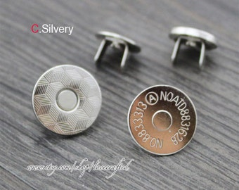 10set 14mm 18mm Thin Magnetic Snaps Button (strongly magnetic) Bronze Anti Brass Silver Plated Metal Closures Button purse making hardware