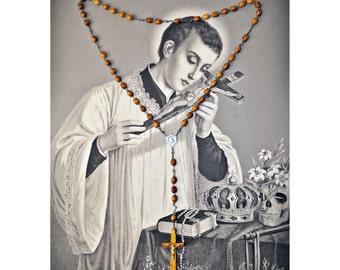 Vintage Olive Wood Jerusalem Rosary circa 1960's  - Wooden  Crucifix