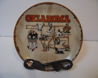 Oklahoma Collectible Plate, Decorative Souvenir Plate
