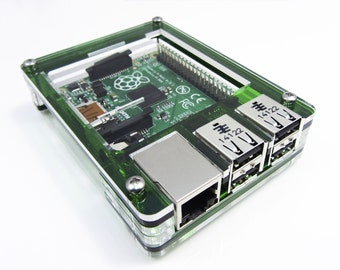 Evergreen Zebra Case - Raspberry Pi3, Pi2, B+ and 2B  with Heatsinks