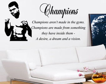 Muhammad Ali Wall Art - Vinyl Wall Art Sticker Decal - Champions Living Room, Bedroom, Hall