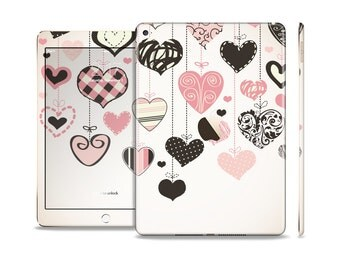 The Hanging Styled-Hearts Skin Set for the Apple iPad (All Models Available)