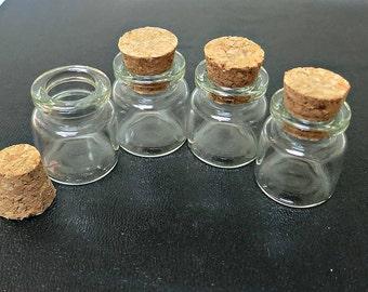 Miniature Glass Bottle 4pcs