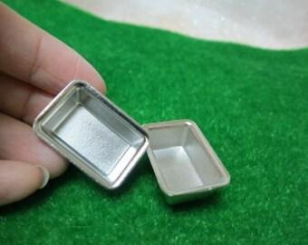 Miniature Metal pots 2 pcs