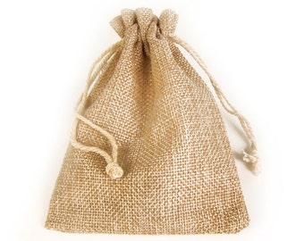 Linen Gift Bag, Jewelry Drawstring Pouches, Necklace Jewelry Bag, Wedding Supply Bags, 14cmX10cm