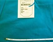 Vintage 60s Deep Turquoise Heavy Taffeta Fabric