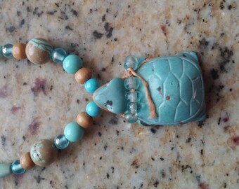 Carved Turtle Necklace