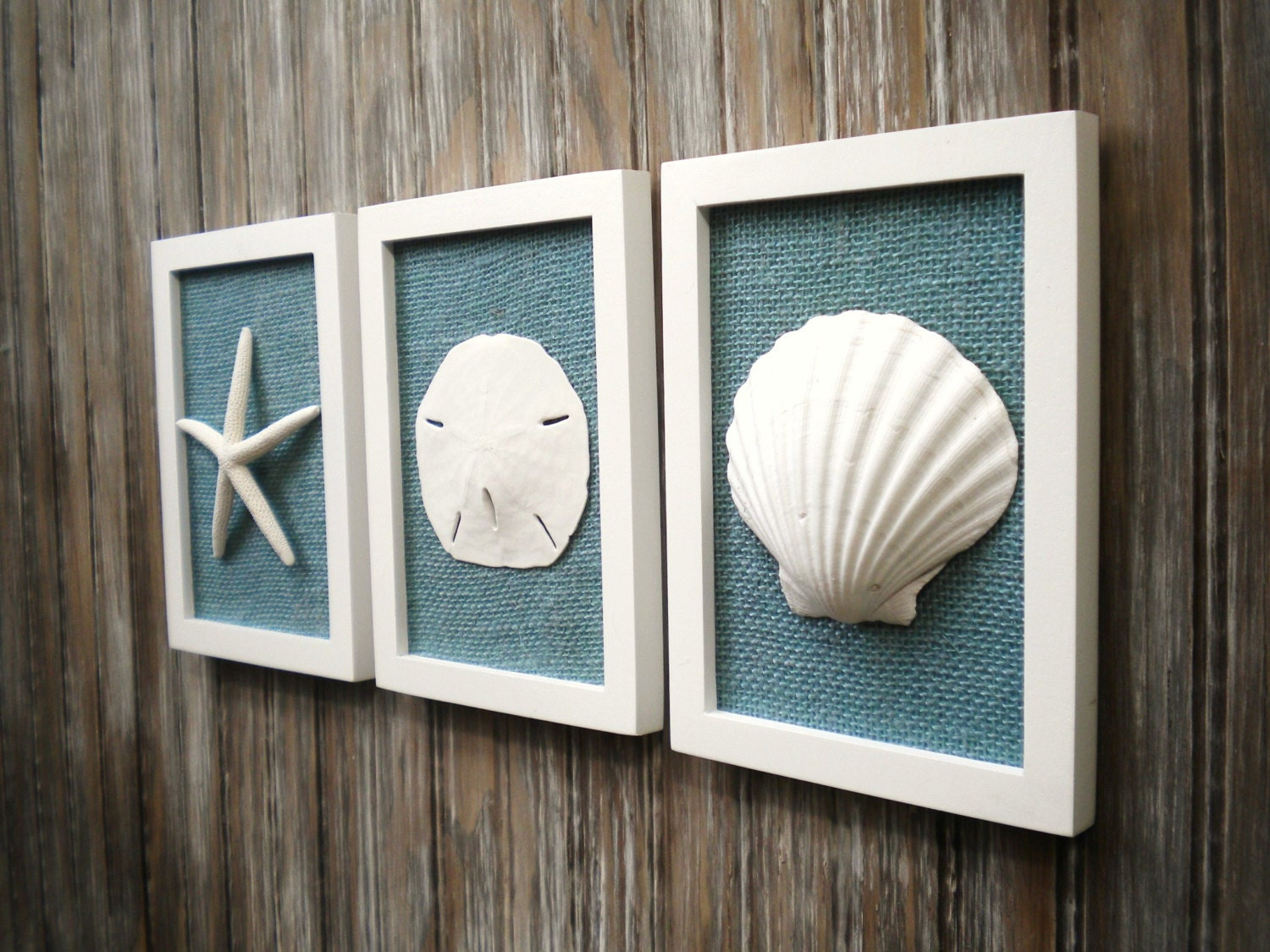 Cottage chic set of beach decor wall art nautical decor for Coastal wall decor ideas