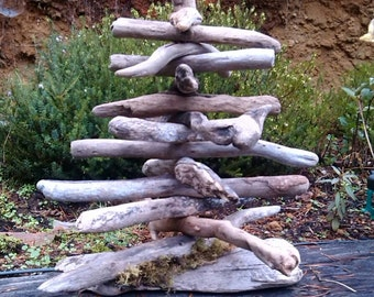 Driftwood Tree Beach Decor Tree Hand Made Coastal Decor Driftwood Art
