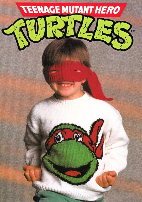 Knitting Pattern For Ninja Turtles Jumper : teenage mutant ninja turtles jumper and bandana eye mask