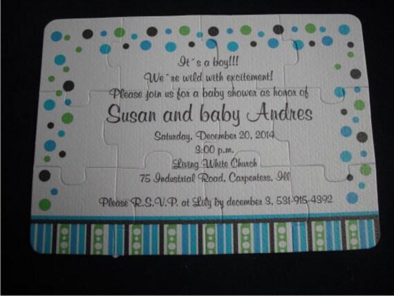 puzzle einladung zur babyparty benutzerdefinierte puzzle 12, Einladung