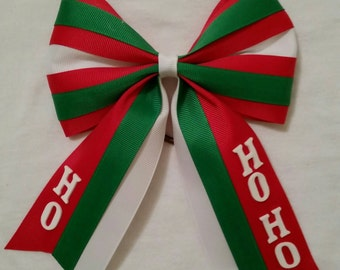 Christmas softball bow