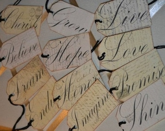 Inspirational Word Tags / Daily Aspiration Tags / Motivational Tags