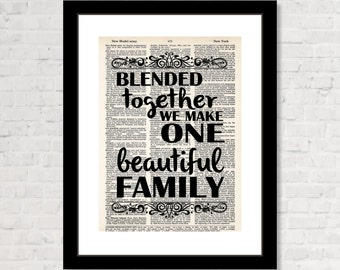 Wedding Gift Ideas Blended Family : ... family dictionary page art blended family gift 7 99 bluepoppygallery