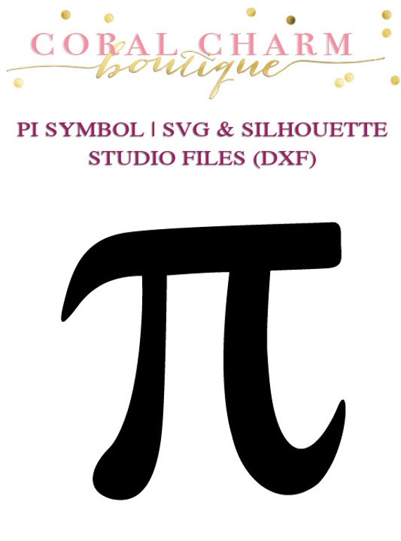 pi symbol design files for cutting machines svg and