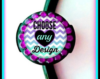 Choose ANY Design-Stethoscope ID tag Personalized, Matching Any Badgetopia Design Bling Stethoscope ID Tag
