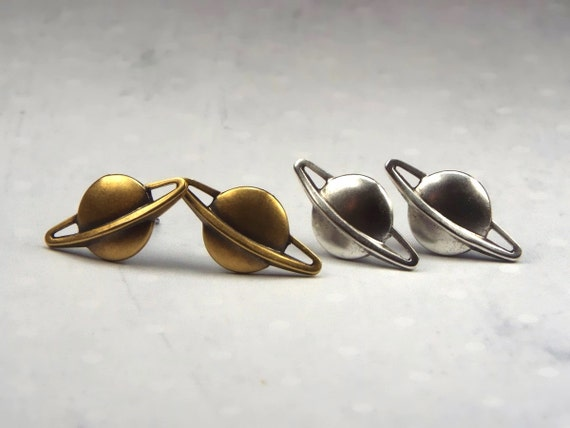 planet saturn earring - photo #27