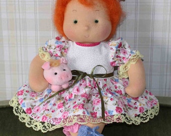 Vera waldorf doll with her little frend Pigelina