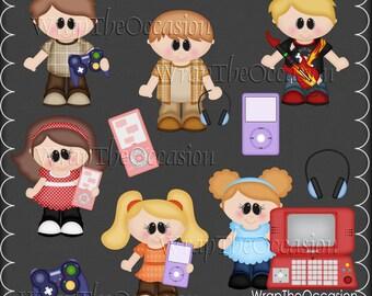 Tech Kids Exclusive Clipart