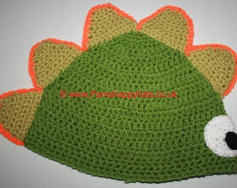 Hand Crocheted Dinosaur Hat