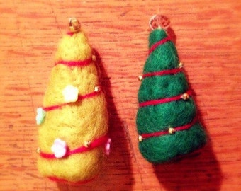 Needle Felt Christmas tree decoration