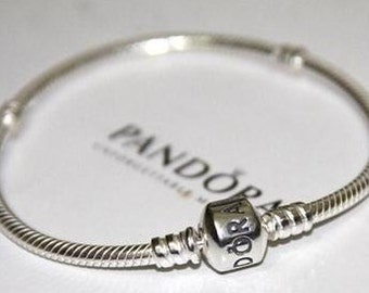 9.1     Clearance----Brand New Sterling Silver Pandora Bracelet with Barrel Clasp